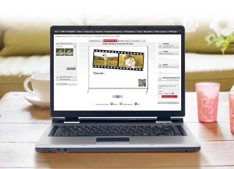4. Prześlij wideo i umieść na Fotokartce, zostanie utworzony kod QR.