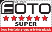 Najwyższe wyróżnienie - SUPER moduł do projektowania CEWE FOTOKSIĄŻKI