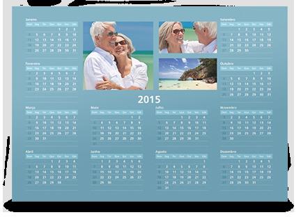 Calendário de Parede Anual