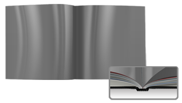 Digitaldruck mit Hochglanz-Veredelung<br>Hardcover