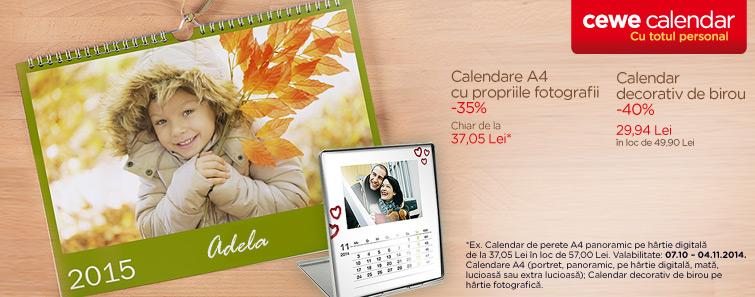 Calendare de perete A4 -35% Calendar decorativ de birou -40% - Cewe.ro