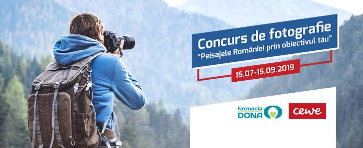 Concurs foto Peisajele României prin obiectivul tău! Concurs organizat de CEWE și Farmaciile Dona