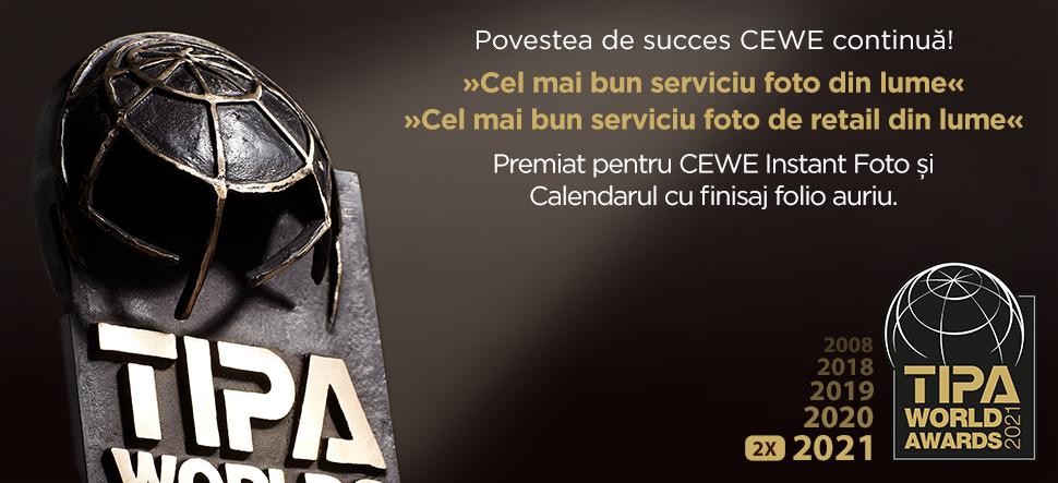 Povestea de succes continuă! CEWE primește două prestigioase Premii Mondiale TIPA