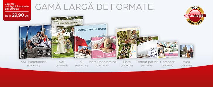 CEWE FOTOCARTE - Gama larga de formate - Cewe.ro
