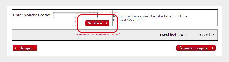 Utilizare cod voucher la comenzi online