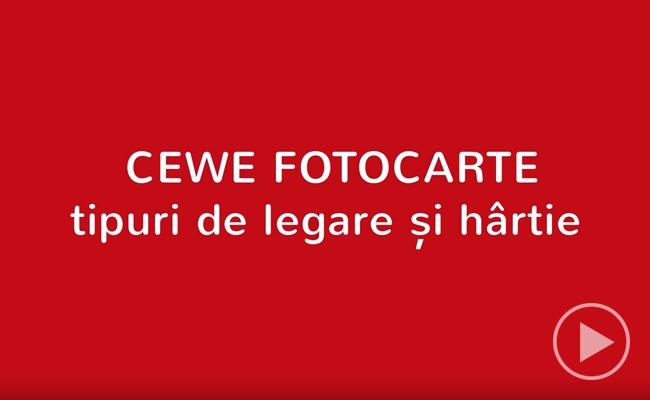CEWE FOTOCARTE - tipuri de legare și hârtie