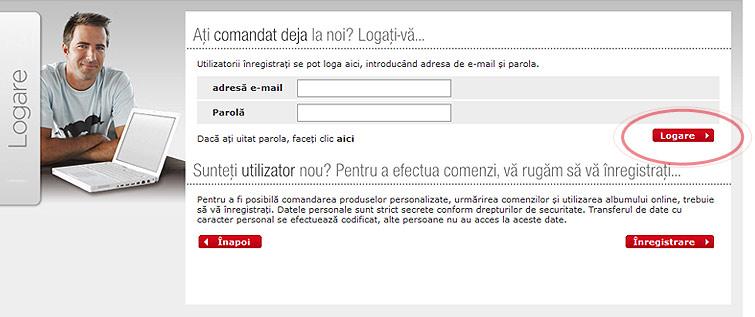 Bejelentkezés a felhasználói fiókba
