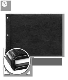 Copertă de piele artificială Neagră