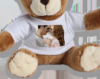 Ursuleţ de pluş cu tricou personalizat