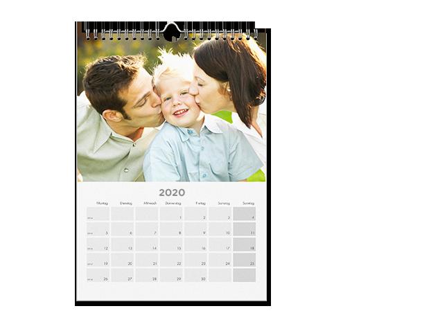 Uspravni ili polegnuti tip A4 zidnog kalendara