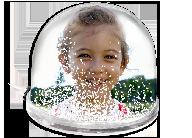 Glob de zăpadă cu fotografia preferată