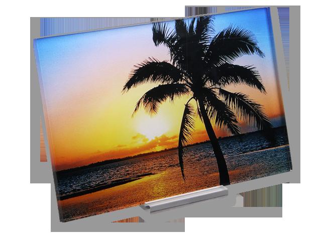 Fotografie pe sticlă acrilică 10x15 cm pe hârtie fotografică