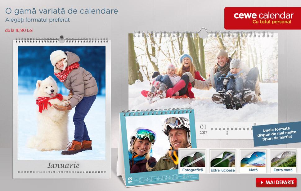 O gamă variată de calendare