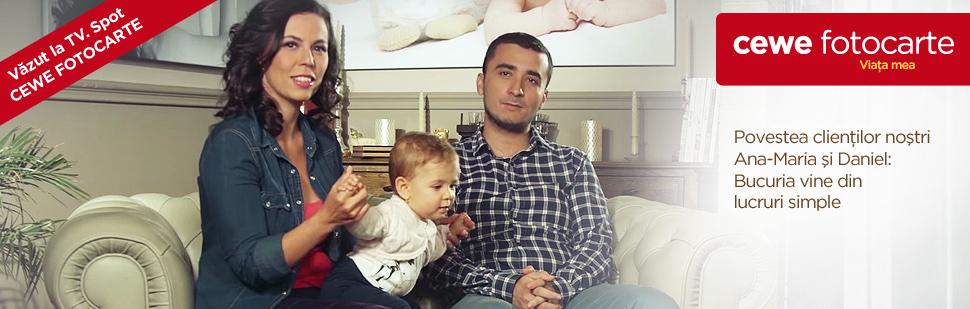 Vizualizati reportajul CEWE FOTOCARTE cu Ana Maria și Daniel!