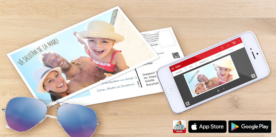 Trimite o carte poștală direct de pe plajă!