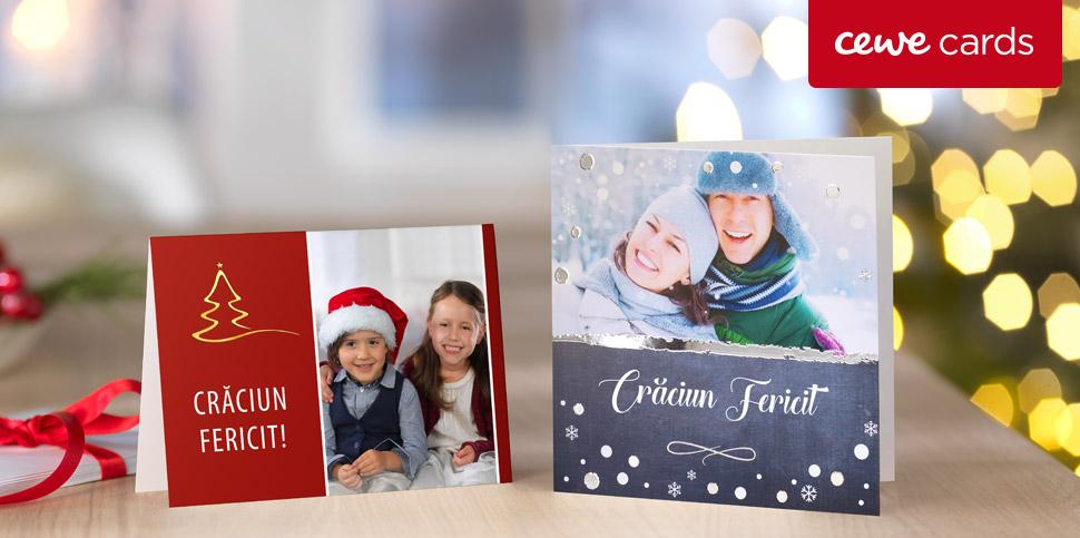 Urări de Crăciun pe felicitări în set de 10 bucăți