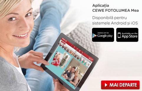 Aplicaţia mobilă CEWE FOTOLUMEA Mea - Cewe.ro