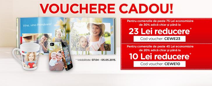 Vouchere cadou pentru comenzi de peste 45 Lei - Cewe.ro