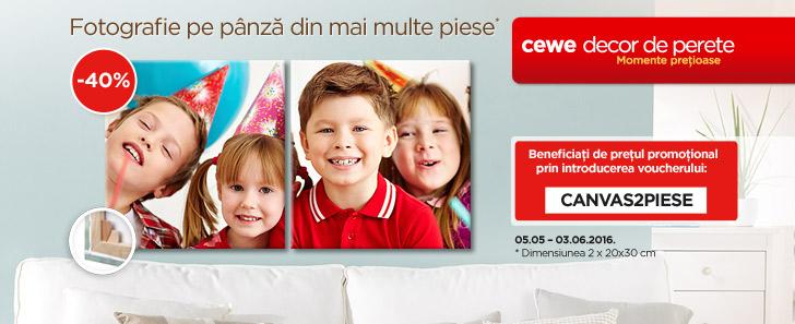 Fotografii pe pânză 2 x 20x30 cm -40% - Cewe.ro