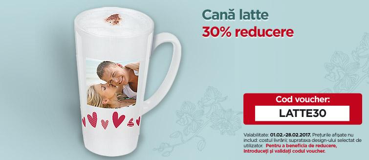 Cană latte 30% reducere
