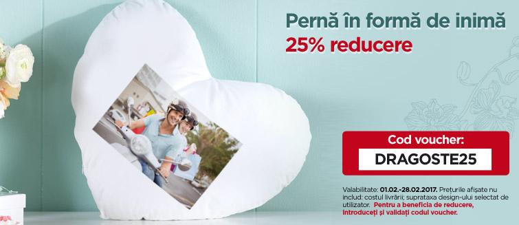 Pernă în formă de inimă 25% reducere