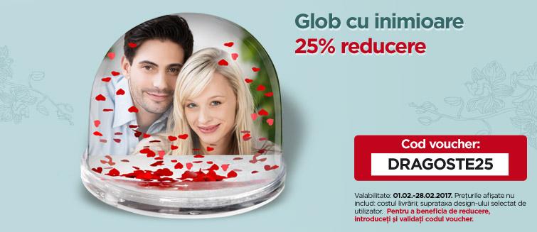 Glob cu inimioare 25% reducere