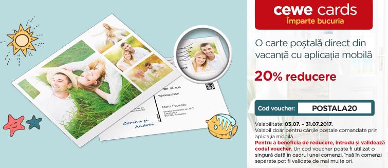 Carte poștală trimisă prin aplicație -20%