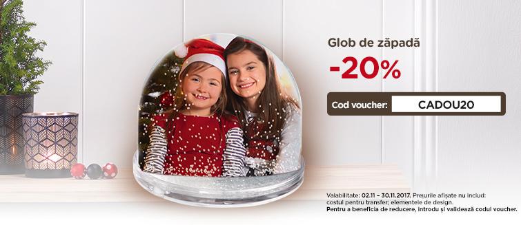 Comandă online glob de zăpadă cu poză - Cewe.ro