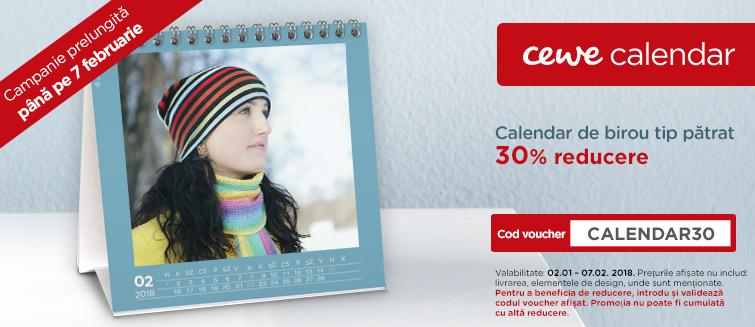 Calendar de birou tip pătrat -30%