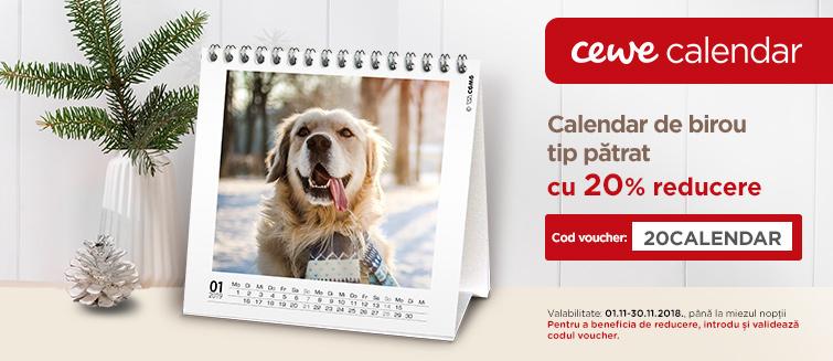 Calendar de birou tip pătrat -20%