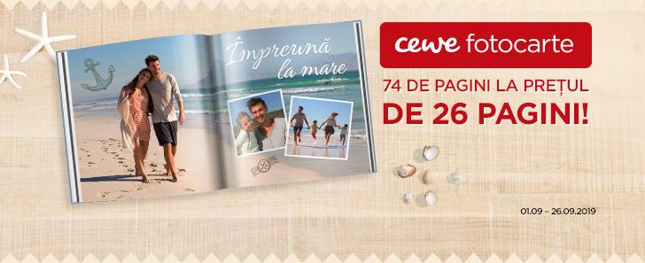 CEWE FOTOCARTE - 74 de pagini la prețul de 26 pagini până pe 26 septembrie!