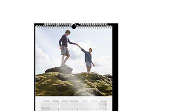 Calendar de perete A2 pe hârtie foto