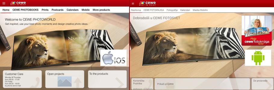 CEWE Fotosvet aplikacija