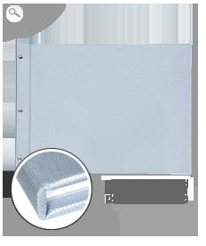 Ezüst prémium vászon borító
