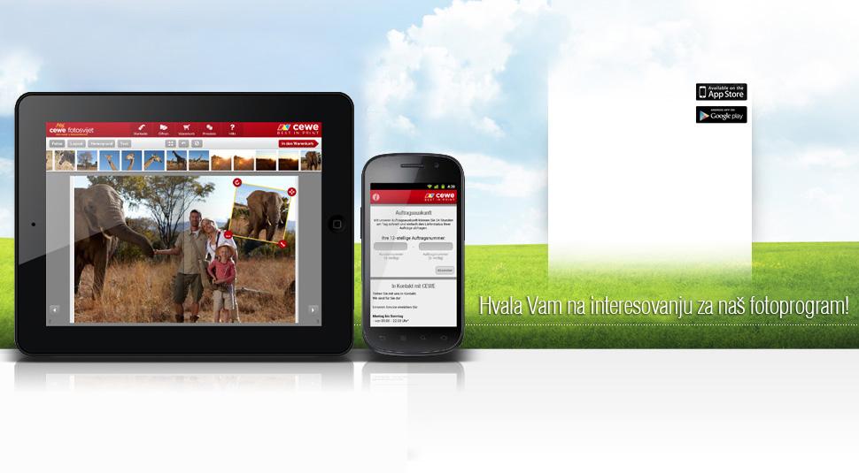 CEWE Fotosvet aplikacia - iOS i Android