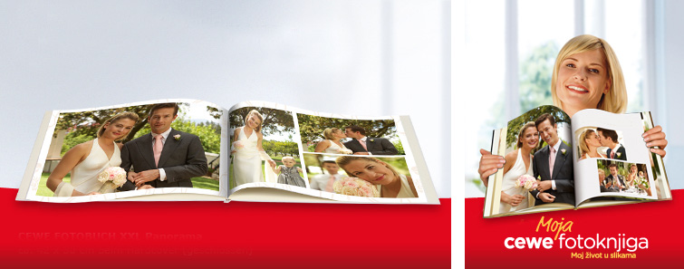 XXL CEWE fotoknjiga s motivima vjenčanja
