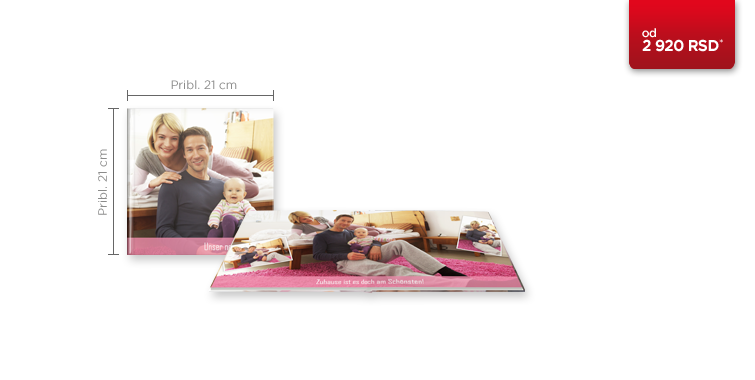 CEWE FOTOKNJIGA kvadratna na mat foto papiru