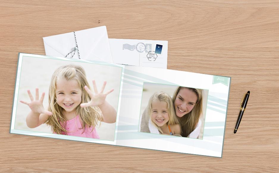 Rodinná fotokniha s dievčatkom