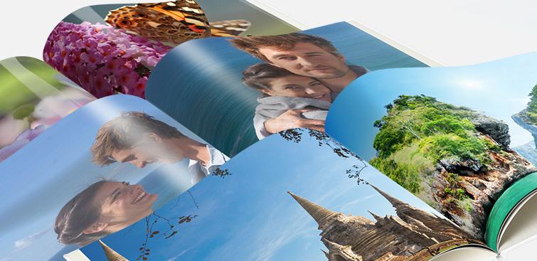 CEWE FOTOKNIHY s náhľadom rôznych fotopapierov