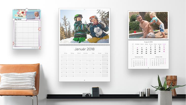 Prehľad plánovacích CEWE kalendárov na bielej stene