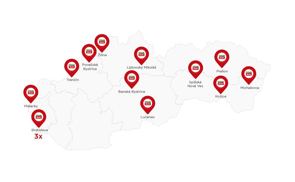 Mapa predajni Fotolab