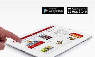 Tablet s aplikáciou CEWE Fotosvet