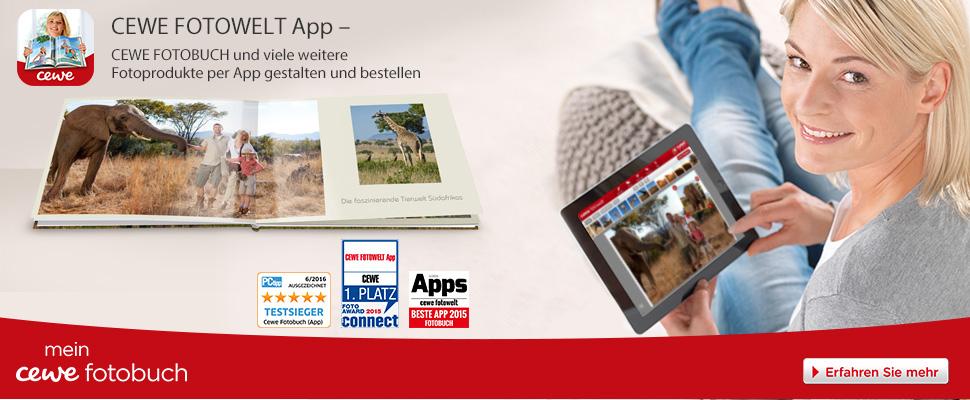 Meine CEWE FOTOWELT App fur CEWE Fotobuch