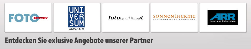 Unserer Partner; Foto objektiv, Universum Magazin, Fotografie.at, Sonnentherme, ARR