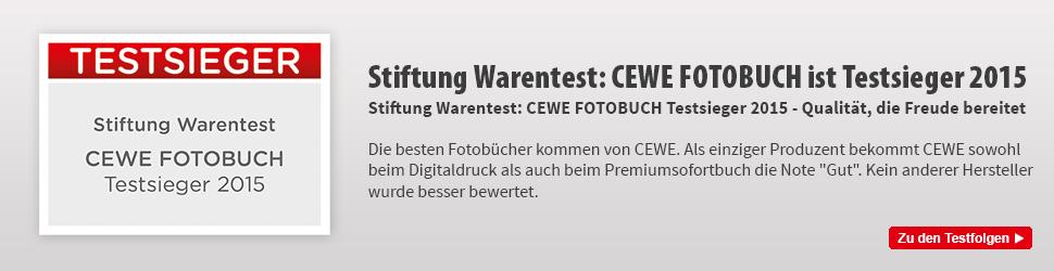 CEWE Fotobuch ist Testsieger 2015