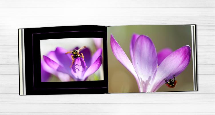 profesionálna fotokniha s kvetmi