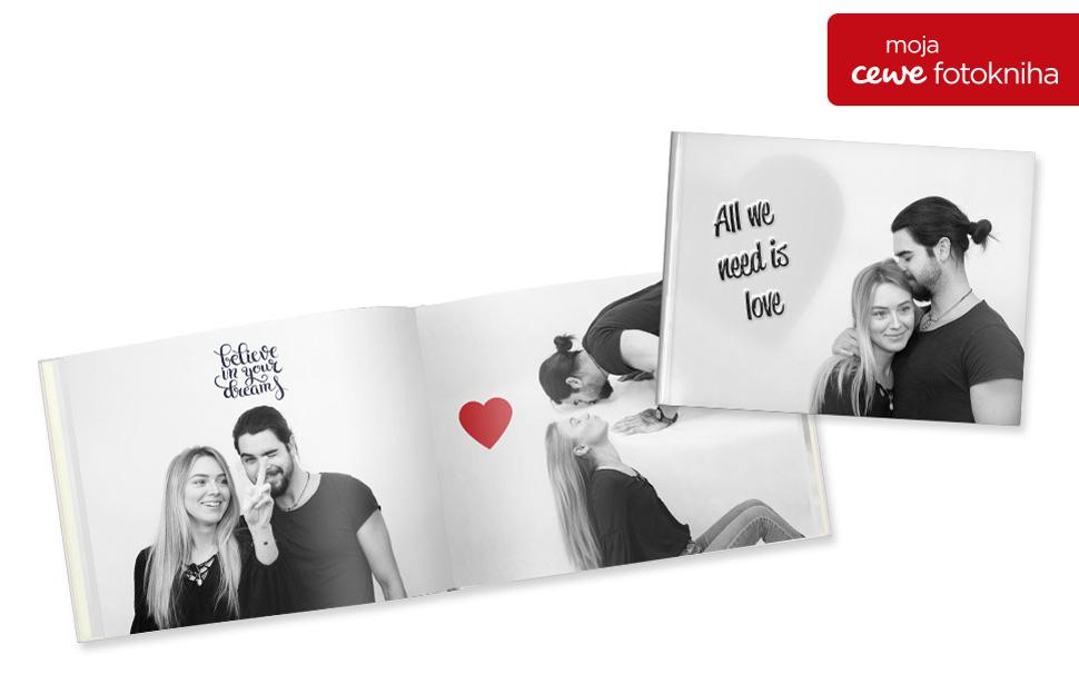 CEWE Fotokniha vo Valentínskom prevedení