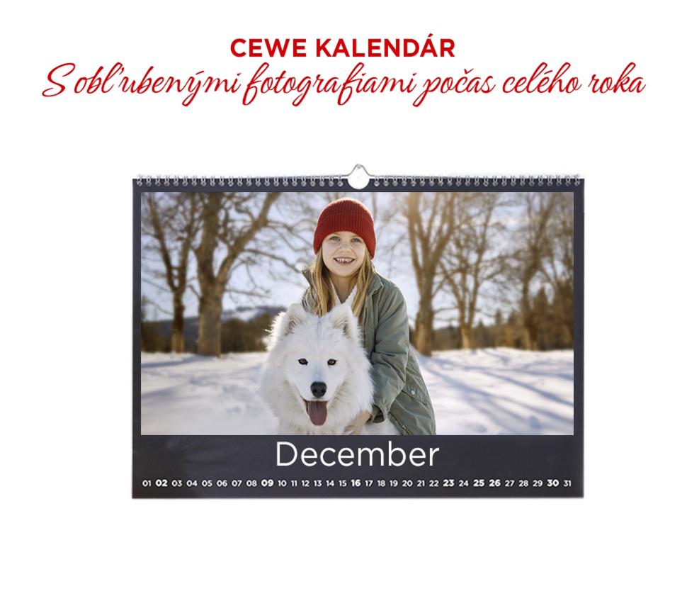 CEWE Fotokalendár, s obľúbenými fotografiami počas celého roka