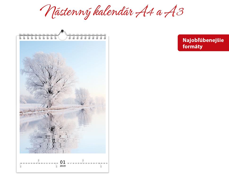 Nástenný kalendár A4 a A3