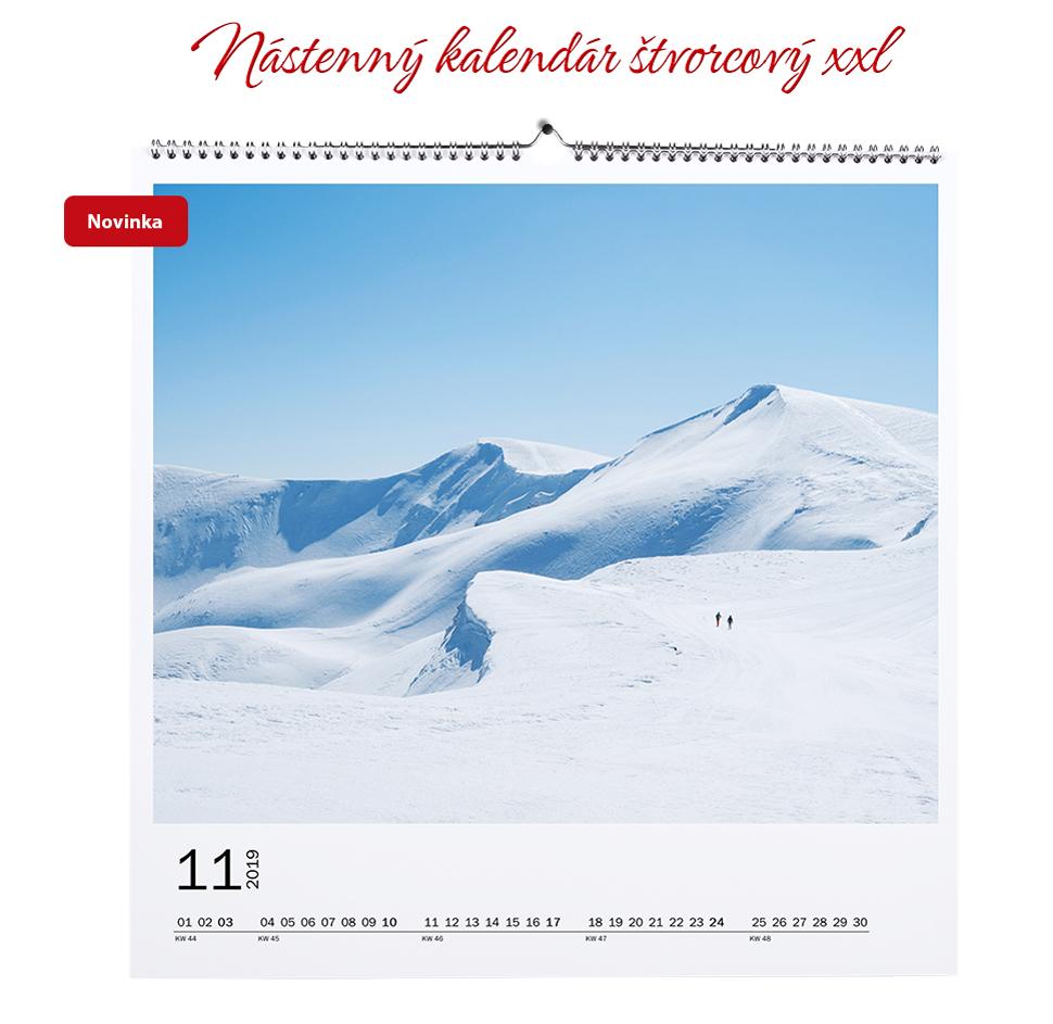 Nástenný kalendár štvorcový XXL